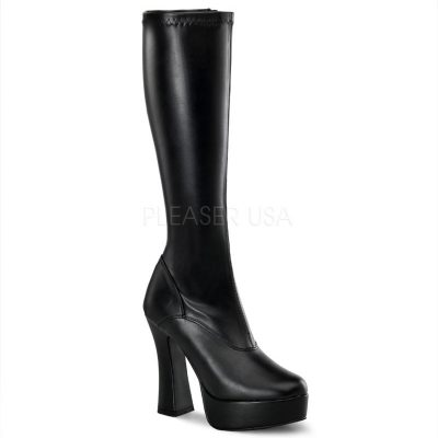 Electra 2000 Black PU Knee High Boot