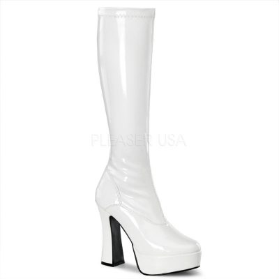 Electra 2000 White Pat Knee High Boot