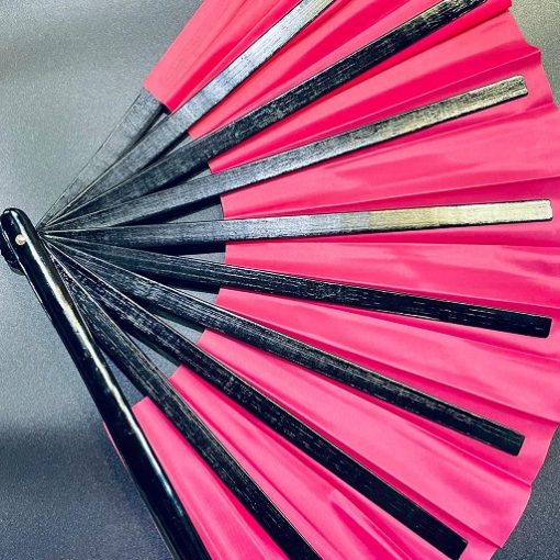 13 Inch Silk Cloth Blank Chinese Folding Fan Wooden Bamboo